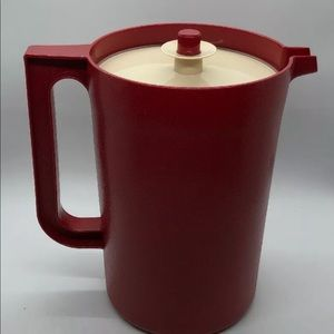 Vintage TUPPERWARE Cranberry Red 2 Qt Pitcher